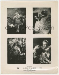 3a0085 LA BELLE ET LA BETE French LC 1947 montage four images including one with beast, ultra-rare!