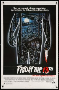 3a0897 FRIDAY THE 13th 1sh 1980 great Alex Ebel art, slasher classic, 24 hours of terror!