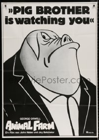 3a0088 ANIMAL FARM German 33x47 R1982 George Orwell, Napoleon, Pig Brother is watching you!