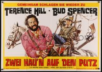 3a0090 BOOT HILL German 33x47 R1970s La collina degli stivali, art of Terence Hill & Bud Spencer!