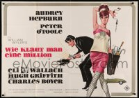 3a0097 HOW TO STEAL A MILLION German 33x47 1966 Bruno Rehak art of Audrey Hepburn & Peter O'Toole!