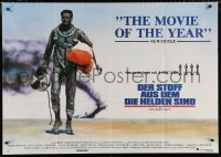 3a0107 RIGHT STUFF awards German 33x47 1984 Sam Shepard as Chuck Yeager walking away from NF-104A crash!