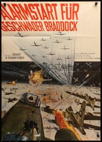 3a0112 1000 PLANE RAID German 1969 Christopher George, cool huge WWII airplane battle art!