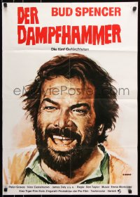 3a0114 5-MAN ARMY German R1970s Dario Argento, completely different close-up art of Bud Spencer!