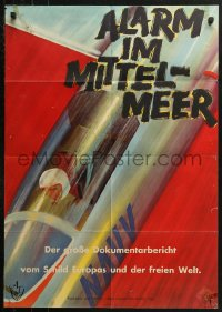 3a0117 ALARM IM MITTELMEER German 1959 Alfred Greven, incredible and different art of Navy pilot!