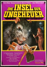 3a0161 FOOD OF THE GODS German 1977 different art of giant rat feasting on sexy girl!
