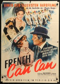 3a0163 FRENCH CANCAN German 1955 Jean Renoir, best different art of Moulin Rouge showgirls!