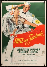 3a0165 FRITZ UND FRIEDERIKE German 1952 Liselotte Pulver in the title role, green style!