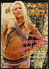 3a0169 GIRLS ARE FOR LOVING German 1974 different image of sexy Cheri Caffaro wearing ammo!
