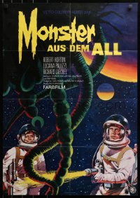 3a0172 GREEN SLIME German 1969 classic cheesy sci-fi movie, art of astronauts & monster by Peltzer!
