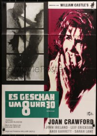 3a0180 I SAW WHAT YOU DID German 1965 Joan Crawford, William Castle, cool Rutters art!