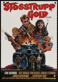 3a0187 KELLY'S HEROES German 1970 Clint Eastwood, Savalas, Rickles, Sutherland and huge tank!