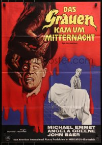 3a0213 NIGHT OF THE BLOOD BEAST German 1962 different artwork of monster hand holding severed head!