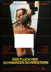 3a0222 PLAYTHING OF THE DEVIL German 1974 Joseph Sarno, wild image of sexy naked lesbian vampire!