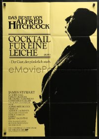 3a0231 ROPE German R1983 Stewart, Dall, Granger, great profile image of director Alfred Hitchcock!
