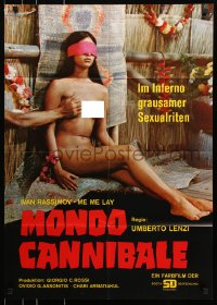 3a0233 SACRIFICE German 1973 Umberto Lenzi directed cannibalism horror, nude native groped!