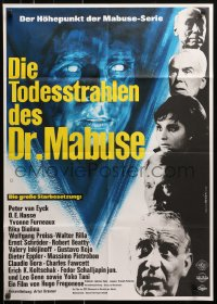 3a0237 SECRET OF DR. MABUSE German 1964 Peter Van Eyck, cool completely different sci-fi art!