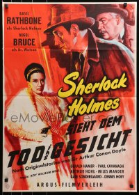 3a0243 SHERLOCK HOLMES SIEHT DEM TOD INS GESICHT German 1958 Basil Rathbone, different artwork!