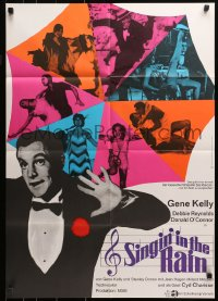 3a0245 SINGIN' IN THE RAIN German R1966 Gene Kelly, Debbie Reynolds, classic musical!
