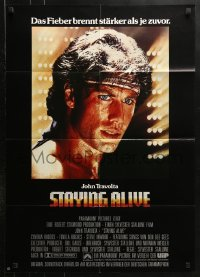3a0250 STAYING ALIVE German 1983 Stallone, John Travolta in Saturday Night Fever sequel!