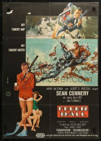 3a0259 THUNDERBALL German 1965 Sean Connery as James Bond 007 by Robert McGinnis & Frank McCarthy!