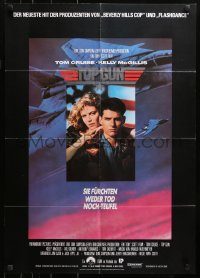 3a0262 TOP GUN German 1986 great image of Tom Cruise & Kelly McGillis, Navy fighter jets!
