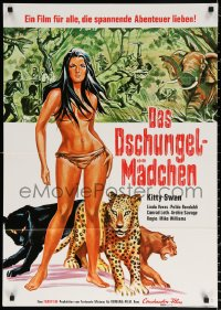 3a0264 VIRGIN OF THE JUNGLE German 1970 Gungala la Vergine Della Giungla, Kitty Swan & big cats!
