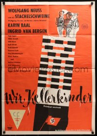 3a0268 WE CELLAR CHILDREN kraftbacked German 1960 Wolfgang Bellenbaum's Wir Kellerkinder, Hitler!