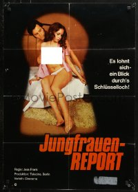 3a0269 WORLD VIRGIN REPORT German 1972 Jesus Franco's Jungfrauen-Report, sexy keyhole image!