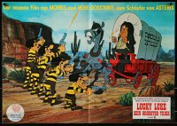3a0271 BALLAD OF DALTON German 16x23 1978 Lucky Luke, completely different art of bandits!