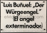 3a0273 EXTERMINATING ANGEL German 16x23 R1970 El angel exterminador, Luis Bunuel, Mexican!