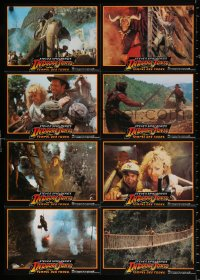 3a0289 INDIANA JONES & THE TEMPLE OF DOOM #2 German LC poster 1984 adventure is his name, different!