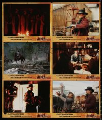3a0292 PALE RIDER #2 German LC poster 1985 completely different images of cowboy Clint Eastwood!