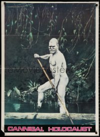3a0005 CANNIBAL HOLOCAUST Italian 1sh 1982 different image of naked native with spear!