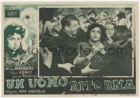 3a0015 REVENGE Italian 10x14 pbusta 1946 Un Uomo Ritorna, different art and image of Anna Magnani!