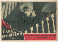 3a0016 UNINVITED Italian 10x14 pbusta 1946 different image of Ray Milland on stairs with Everest!