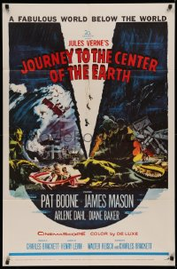 3a0952 JOURNEY TO THE CENTER OF THE EARTH 1sh 1959 Jules Verne fabulous world below the world!