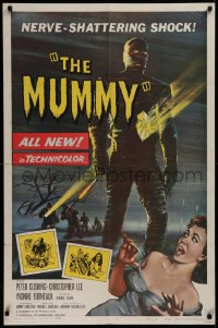 3a1017 MUMMY 1sh 1959 Hammer horror, Wiggins art of Christopher Lee as the bandaged monster!