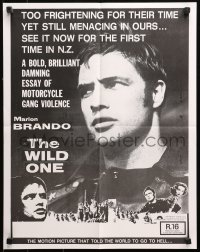 3a0011 WILD ONE New Zealand 1977 Laszlo Benedek, images of Marlon Brando, Murphy!