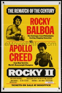 3a1097 ROCKY II 1sh 1979 Sylvester Stallone & Carl Weathers as Creed, the rematch of the century!