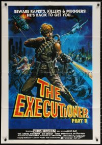 3a0007 EXECUTIONER PART II South African 1984 James Bryan directed, action art of Chris Mitchum!