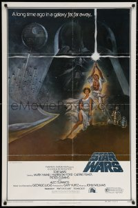 3a1122 STAR WARS style A first printing int'l 1sh 1977 George Lucas classic epic, art by Tom Jung!