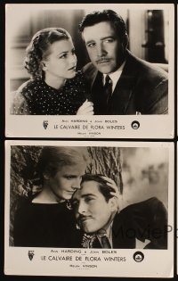 3a0081 LIFE OF VERGIE WINTERS 4 French LCs 1934 John Boles, pretty Ann Harding in title role!