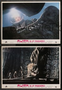 3a0022 ALIEN 12 Spanish LCs 1979 Ridley Scott classic, a word of warning, different images, rare!