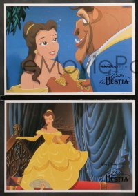 3a0023 BEAUTY & THE BEAST 12 Spanish LCs 1992 Walt Disney cartoon classic, images of cast!