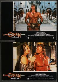 3a0027 CONAN THE DESTROYER 12 Spanish LCs 1984 Arnold Schwarzenegger, Grace Jones, d'Abo, different!