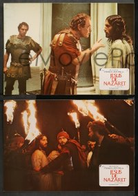 3a0030 JESUS OF NAZARETH 12 Spanish LCs 1977 Franco Zeffirelli, Powell as Christ!