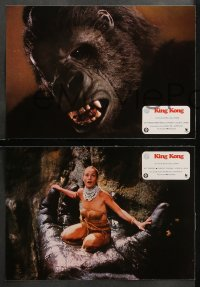 3a0036 KING KONG 22 Spanish LCs 1976 Bridges, sexy Jessica Lange & BIG Ape, John Berkey art!