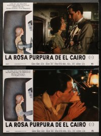 3a0032 PURPLE ROSE OF CAIRO 12 Spanish LCs 1985 directed by Woody Allen, Jeff Daniels, Mia Farrow