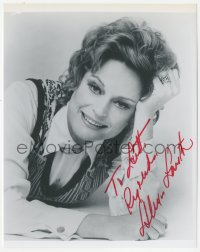 3f0953 ALEXIS SMITH signed 8x10 REPRO still 1980s close up laying on the floor with head on hand!